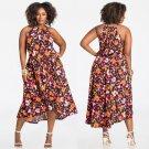 Fashion Big Size 3XL Streetwear 2XL Casual Dresses 4XL Fat Lady Flora Printing Long Summer Dress