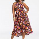 Plus Size 3XL Casual Dresses 4XL Fat Lady Digital Floral Printing Long Summer Dress