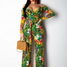 Plus Size 2XL American Women Streetwear Off Shoulder Casual Wear Summer Jumpsuits