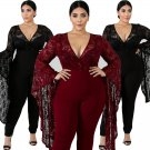 XXL Lace Jumpsuits Summer American Street Wear Casual Wear Large Size 2XL Fashion Woman Clothes