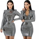 Patent Leather Party Dresses Sexy Women Bodycon Night Bar Mini Dress PVC Club Wear