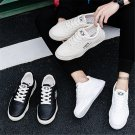 Korea Style Ulzzang Sneakers Casual PU Shoes Fashion Summer PVC Shoes Faux Leather Footwear
