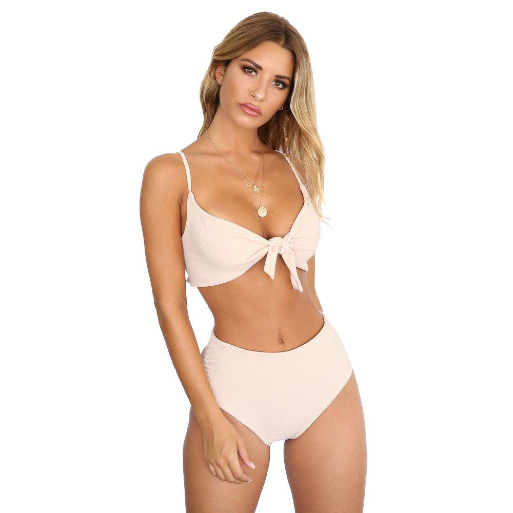 Sexy Push-up Swimwear Two Piece Girl Bikinis High Waist Beach Outfits Women Swimming Costumes