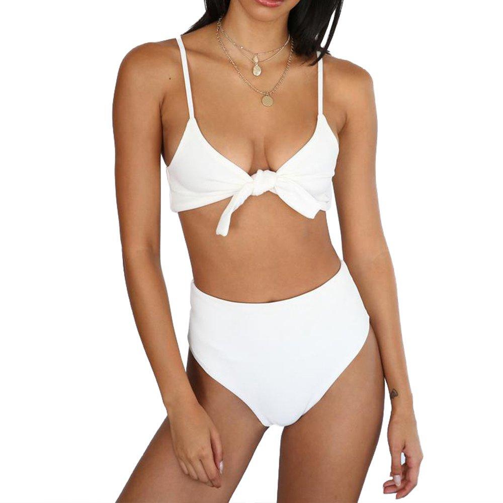 White Sexy Padding Bikinis Swimsuit High Waist Beach Wear Fashion Women Padded Swimming Wear