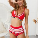 Women Tassel Beach Resort Wear Trendy Fishnet Brazilian Swimming Costumes