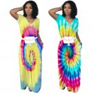Retro Sun Day Dress Short Sleeve African Print Streetwear Plus Size Casual Ethnic Clothing