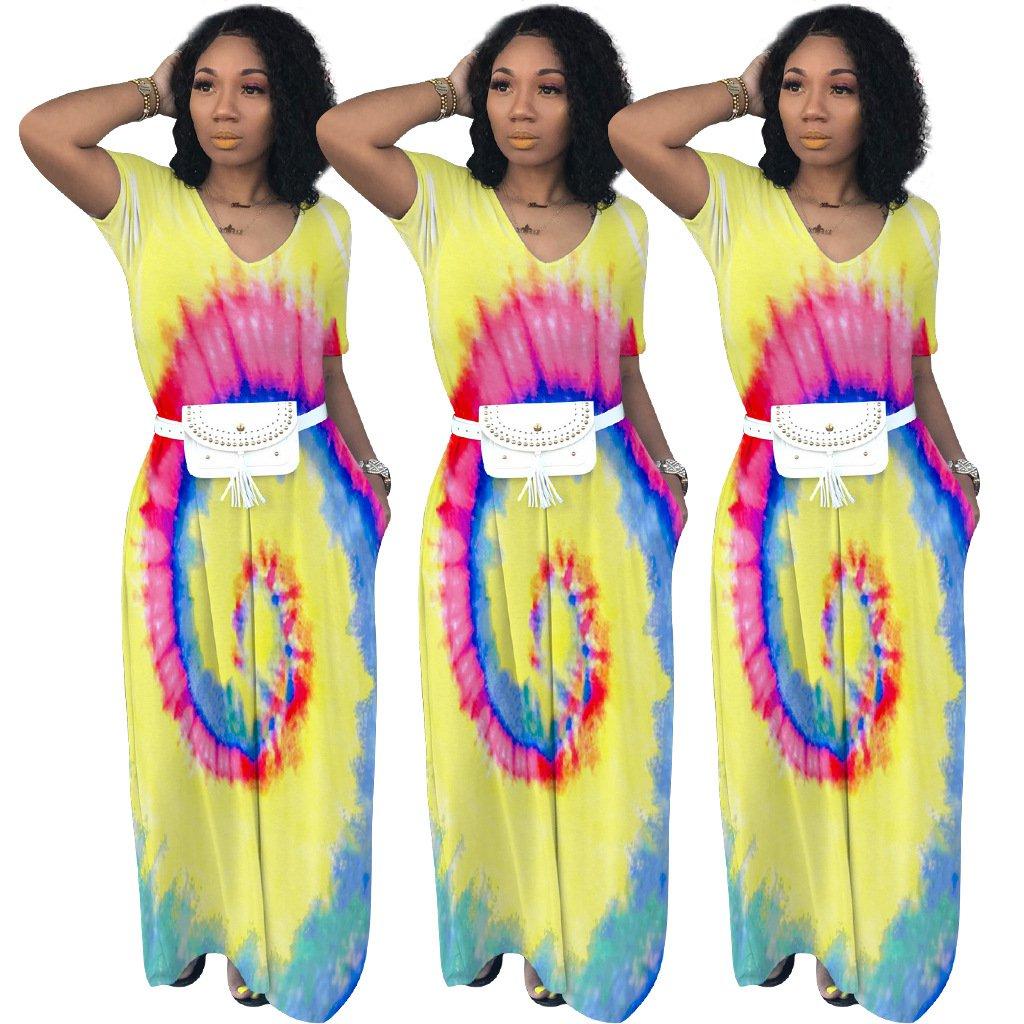 Plus Size XXL Fashion Maxi Dresses Floor Length Ethnic Clothing Vintage Casual Boho Dress