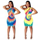 Summer Beach Vacation Outfits 2XL Size Hollow Out Ethnic Clothing Fashion One Shoulder Dress