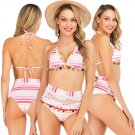 Summer Vacation Outfits Halter  Fashion Swimming Costume Sexy American Women's Swimwear
