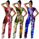 Galaxy Printing Tee High Waist Women Digital Print Casual Clothing Two Piece Pants