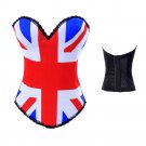UK Flag Print Gorset Punk Body-shape Shapewear Sexy Bustiers Lingerie