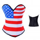 Plus Size XXL USA Flag Corset Fashion UK Flag Print Shapewear Gothic European Korset