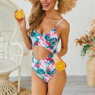 Fashion One Piece Bikini Beach Vacation Outfits Floral Printing Vintage Swimwear Bathing Suits