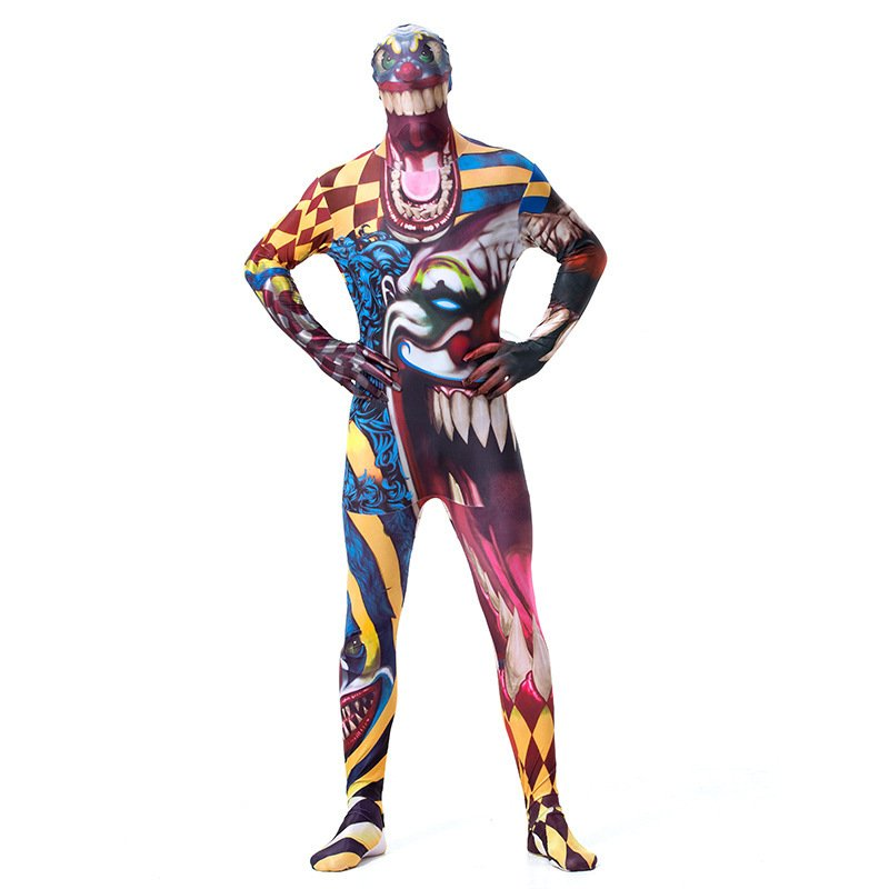 Plus Size XXL Horrible Movie Devils COS Apparel Mardi Gras Theme Costume Juggler Cosplay Zentai