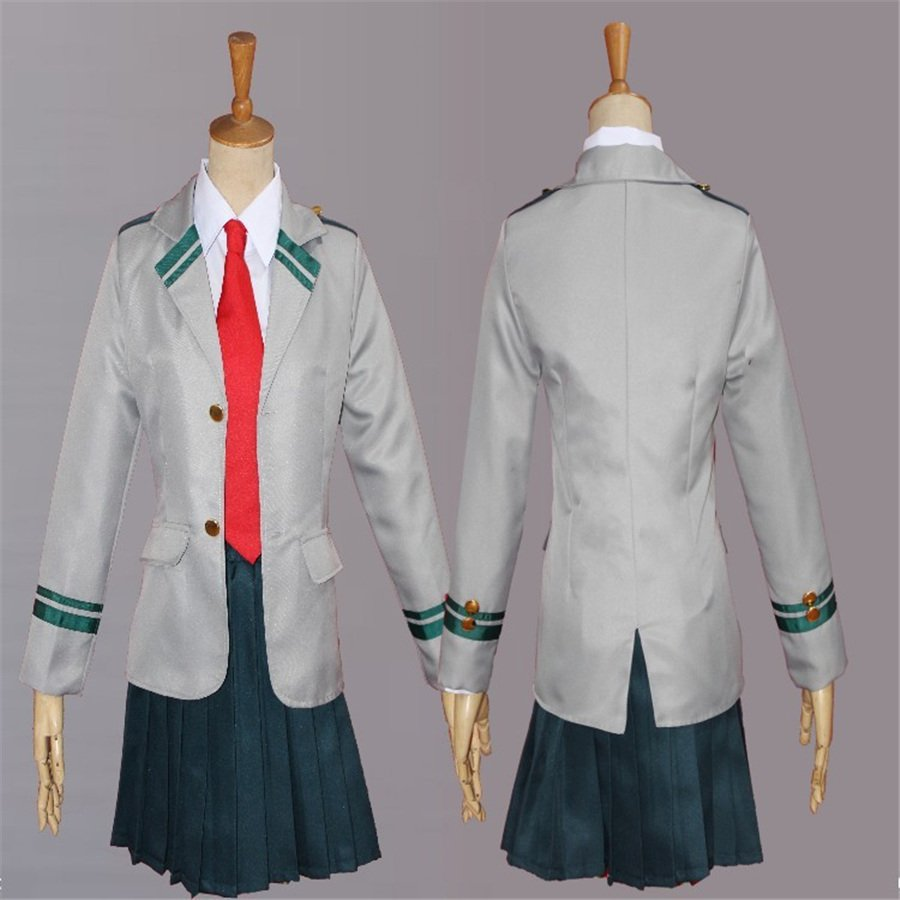 My Hero Academia Costume All Might Cosplay School Uniform Japanese Anime Asui Tsuyu Clothing