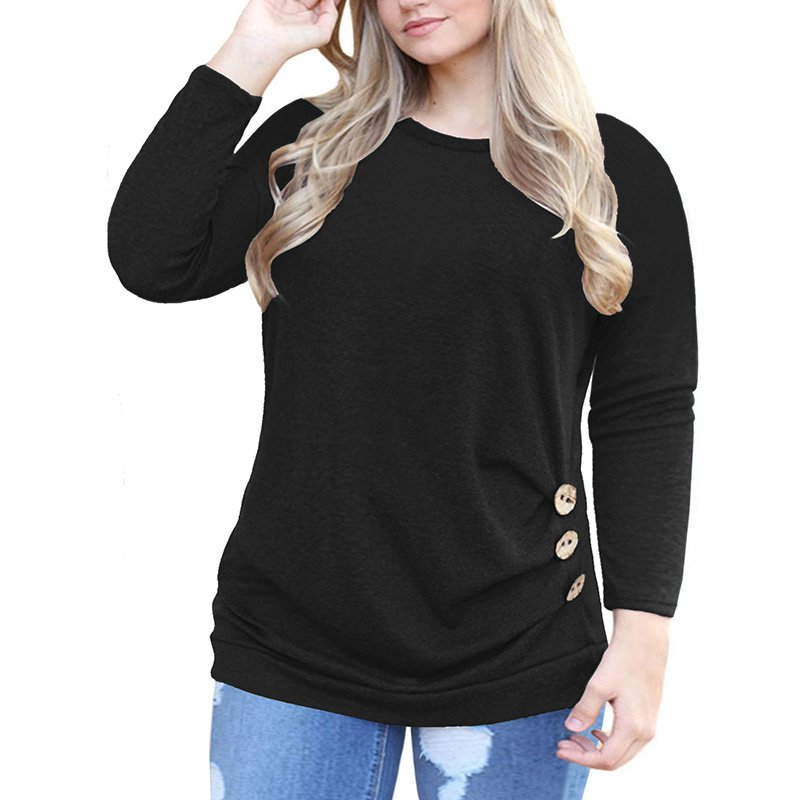 American Women Plus Size Blouses 3XL Cold Sleeve Autumn Casual Clothing