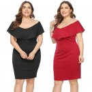 Women Plus Size Casual Dresses Super Size 3XL Sheath Fashion Clothing