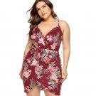 Super Size Fashion Sexy High Waist Clubwear Slim Charming 3XL Women V-neck Elegant Dress