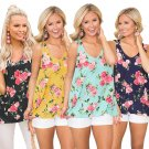 Plus Size Camisole Summer Women V-Neck XXL Loose Tees Lady Fashion Hollow Out Tops