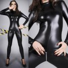 Patent Leather Jumpsuits Fetish Bodysuits Sexy Night Clubwear Zippers Open Crotch Sexy Costumes