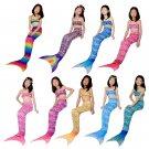 Kid Mermaid Swimwear Fashion Children Beach Vacation Outfits Mermaid Bandeau Bikini