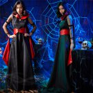 Black Empire Fancy Dress Halloween Theme Costume Carnival Cosplay Fairy Tales Outfits