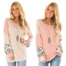 Spring Women Panelled T-shirts Crew Neck Trendy Clothing Lantern Sleeve Streetwear
