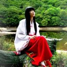 Female Inuyasha COS Costume Carnival Cosplay Japaness Anime Kikyo Outfits