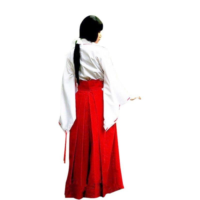 Japaness Anime Uniform Women Inuyasha Costume Cartoon Dress Cosplay Kikyo Fancy Dresses