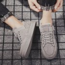 Suedette Skate Sneakers Fashion Fall Casual Shoes Ulzzang Plimsolls