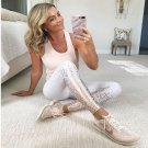 Gold Stamping Yoga Outfits Lady Bronzing Exercise Pants High Waist Activewear