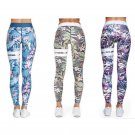 High Waist Yoga Pants Sexy Floral Printed Activewear Lift Butts Fitness Leggings