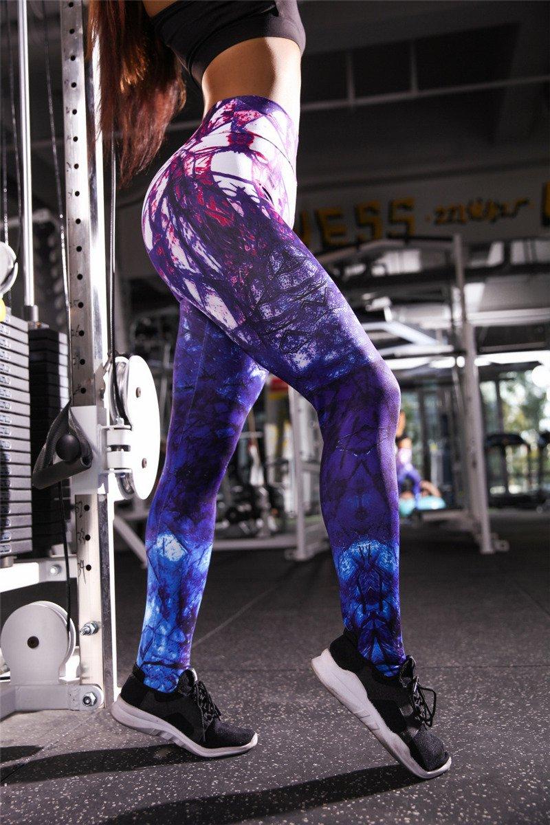 Women Printing Body Mechanics Trousers Printed Exercise Leggings