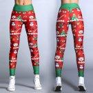 Christmas Printing Body Mechanics Clothing High Waist Gym Leggings Yoga Outfits