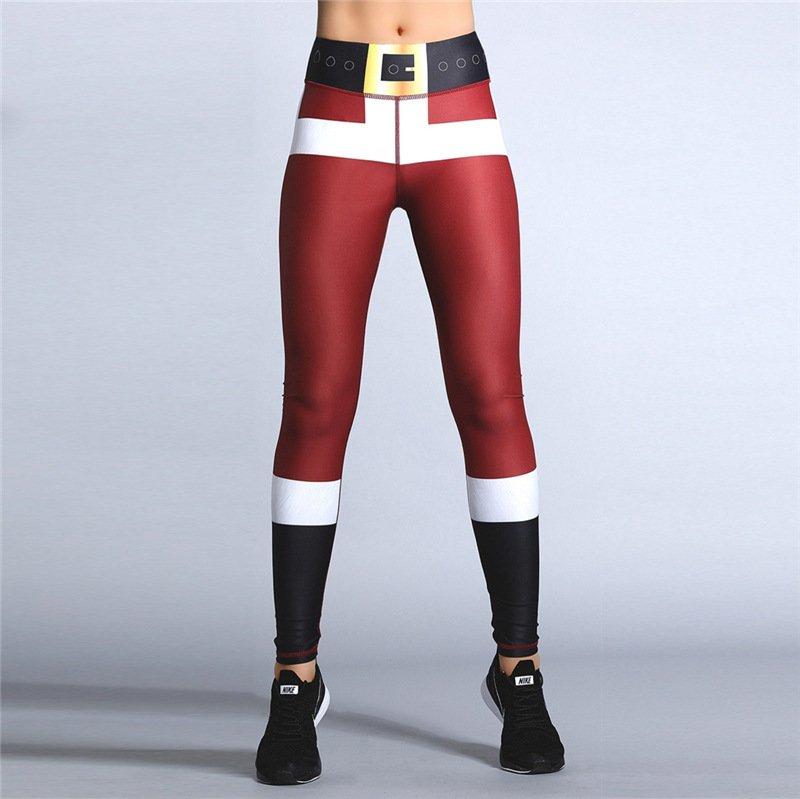 Lift Butts Fitness Wear Christmas Leggings Women Xmas Print Exercise Pants