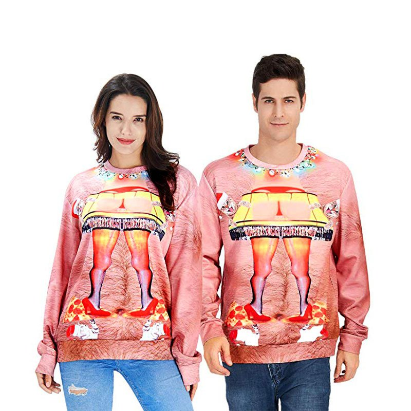 Unisex Funny Sweatshirts Male Novelty Xmas Outerwear Women Christmas Hoodies
