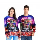 2XL Size Christmas Knits Casual Couple Tops Digital Print Unisex Xmas Hoodies