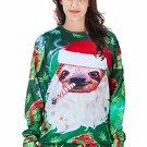 Christmas Knits Lover Clothing Couple Tops Santa Hoodies Casual Green Xmas Tees