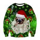 Green Santa Hoodies Christmas Sweatshirt Lover's Clothing Festival Couple Wear
