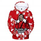 Child La casa de papel Costume Print Hoodies Novelty Santa Tees Christmas Kid Money Heist Knits