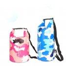 15L Beach Storage Sport Dry Storage PVC Dry Bucket Pouch Swimming Camouflage Backpack