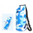 10L Beach Storage Sport Dry Storage PVC Dry Bucket Pouch Swimming Camouflage Backpack