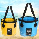 12L Portable Water Breaker PVC Tactical Waist Packs Foldable Tactical Fishing Pail