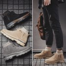 Men Faux Leather Ankle Boots High Quality Fashion Street Western Shoes