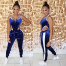 Plus Size 2XL Female Workout Clothes Fall Sleeveless Fitness Jumpsuit Fashion Velvet Tracksuits