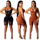 Fashion Spring Bustiers for Women Sexy Mesh Shapewear Spaghetti Straps Rompers