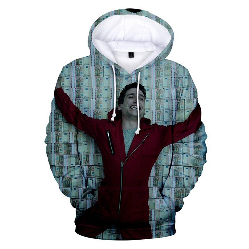 Boys Money Heist Hoodies Spring Spain TV Series Garment Fashion Child Plus Size Streetwear