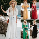 2020 Lace Casual Dresses Fashion Summer Chiffon Clothing V-Neck Plus Size Streetwear