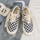 Fashion Autumn Casual Gingham Board Shoes Chic Summer Ulzzang Plimsolls