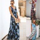 2020 Sleeveless Floor Length Beach Maxi Dress Floral Printed Casual Dresses
